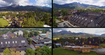 Drone video of GERARD roofs at the feet of the Polish Tatra Mountains in Zakopane